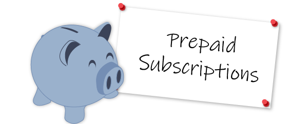 Prepaid subscriptions that your piggy bank will enjoy