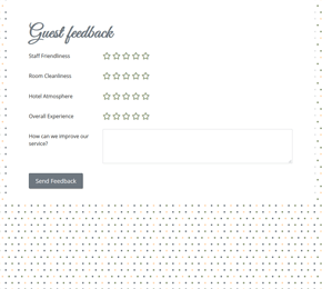 The Comment Card form template