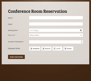 The Conference Room Reservation form template