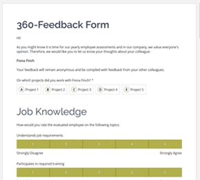The 360-feedback Form template